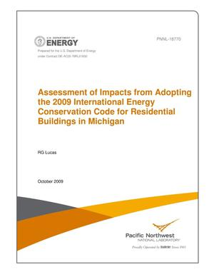 Primary view of object titled 'Assessment of Impacts from Adopting the 2009 International Energy Conservation Code for Residential Buildings in Michigan'.
