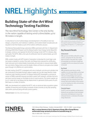 Primary view of object titled 'Building State-of-the-Art Wind Technology Testing Facilities (Fact Sheet)'.
