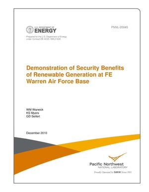 Primary view of object titled 'Demonstration of Security Benefits of Renewable Generation at FE Warren Air Force Base'.