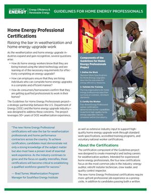 Primary view of object titled 'Home Energy Professional Certifications (Fact Sheet)'.
