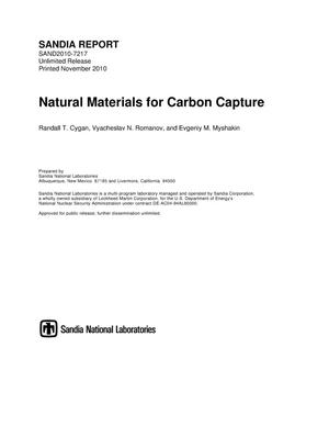 Primary view of object titled 'Natural materials for carbon capture.'.