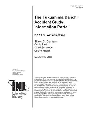 Primary view of object titled 'The Fukushima Daiichi Accident Study Information Portal'.