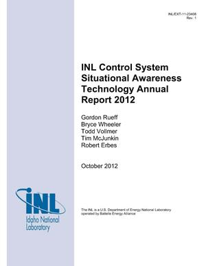 Primary view of object titled 'INL Control System Situational Awareness Technology Annual Report 2012'.