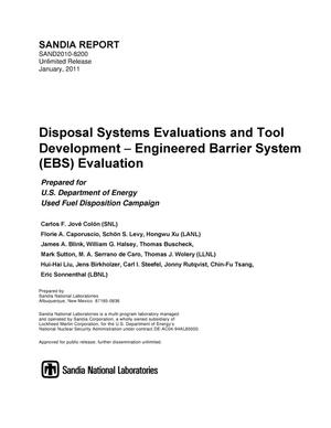 Primary view of object titled 'Disposal systems evaluations and tool development : Engineered Barrier System (EBS) evaluation.'.