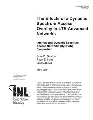 Primary view of object titled 'The Effects of a Dynamic Spectrum Access Overlay in LTE-Advanced Networks'.