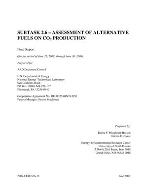 Primary view of object titled 'Subtask 2.6 - Assessment of Alternative Fuels on CO2 Production'.