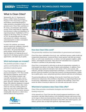 Primary view of object titled 'Clean Cities Fact Sheet, May 2011'.