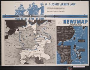 Primary view of object titled 'Newsmap. For the Armed Forces. 295th week of the war, 177th week of U.S. participation'.