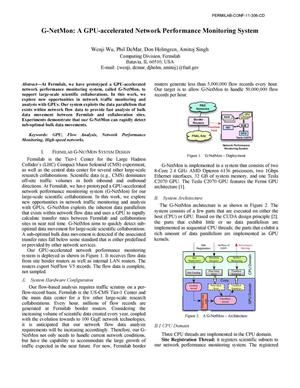 Primary view of object titled 'G-NetMon: a GPU-accelerated network performance monitoring system'.