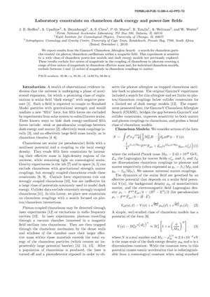 Primary view of object titled 'Laboratory constraints on chameleon dark energy and power-law fields'.
