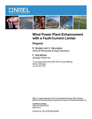 Primary view of object titled 'Wind Power Plant Enhancement with a Fault-Current Limiter: Preprint'.