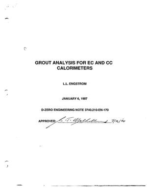 Primary view of object titled 'Grout Analysis for EC and CC Calorimeters'.