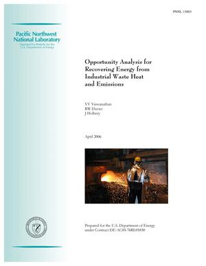 Primary view of object titled 'Opportunity Analysis for Recovering Energy from Industrial Waste Heat and Emissions'.