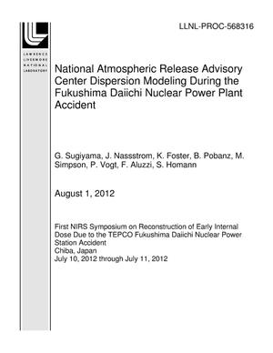 Primary view of object titled 'National Atmospheric Release Advisory Center Dispersion Modeling During the Fukushima Daiichi Nuclear Power Plant Accident'.