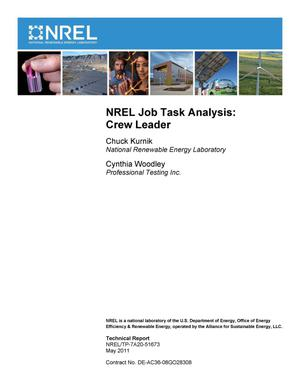 Primary view of object titled 'NREL Job Task Analysis: Crew Leader'.