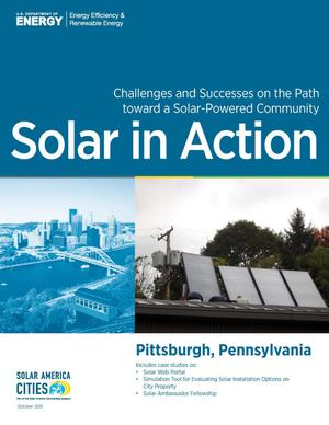 Primary view of object titled 'Pittsburgh, Pennsylvania: Solar in Action (Brochure)'.