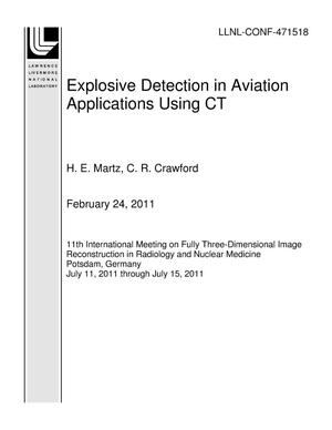 Primary view of object titled 'Explosive Detection in Aviation Applications Using CT'.