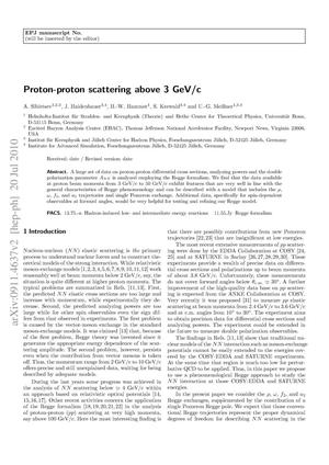Primary view of object titled 'Proton-proton Scattering Above 3 GeV/c'.