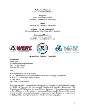 Primary view of object titled 'Arsenic Water Technology Partnership Final Technical Report'.