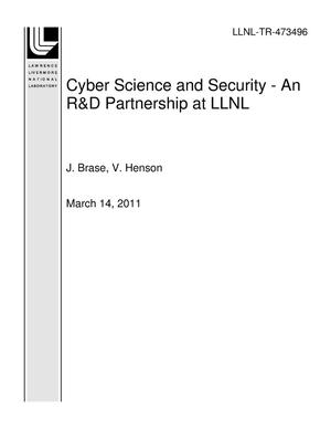 Primary view of object titled 'Cyber Science and Security - An R&D Partnership at LLNL'.
