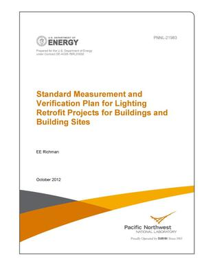 Primary view of object titled 'Standard Measurement and Verification Plan for Lighting Retrofit Projects for Buildings and Building Sites'.