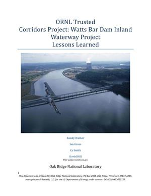 Primary view of object titled 'ORNL Trusted Corridors Project: Watts Bar Dam Inland Waterway Project'.