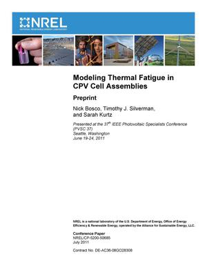Primary view of object titled 'Modeling Thermal Fatigue in CPV Cell Assemblies: Preprint'.