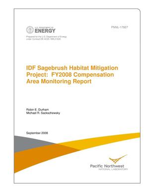 Primary view of object titled 'IDF Sagebrush Habitat Mitigation Project: FY2008 Compensation Area Monitoring Report'.