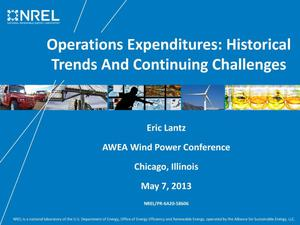 Primary view of object titled 'Operations Expenditures: Historical Trends and Continuing Challenges (Presentation)'.