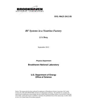Primary view of object titled 'RF Systems in a Neutrino Factory'.