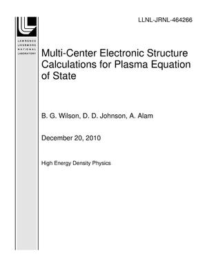 Primary view of object titled 'Multi-Center Electronic Structure Calculations for Plasma Equation of State'.