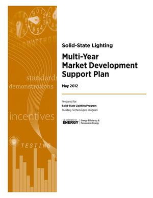Primary view of object titled 'Multi-Year SSL Market Development Support Plan'.