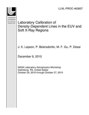 Primary view of object titled 'Laboratory Calibration of Density-Dependent Lines in the EUV and Soft X-Ray Regions'.