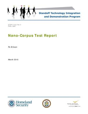 Primary view of object titled 'Nano-Corpus Test Report'.