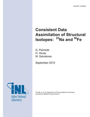 Primary view of object titled 'Consistent Data Assimilation of Structural Isotopes: 23Na and 56Fe'.