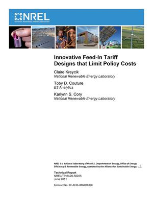 Primary view of object titled 'Innovative Feed-In Tariff Designs that Limit Policy Costs'.
