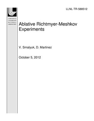 Primary view of object titled 'Ablative Richtmyer-Meshkov Experiments'.