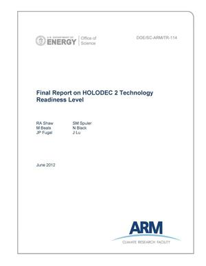 Primary view of object titled 'Final Report on HOLODEC 2 Technology Readiness Level'.