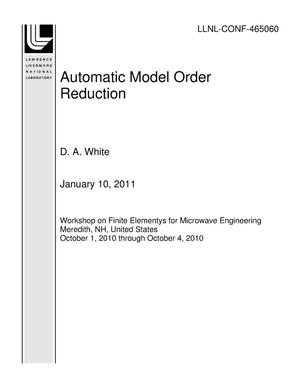 Primary view of object titled 'Automatic Model Order Reduction'.