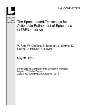 Primary view of object titled 'The Space-based Telescopes for Actionable Refinement of Ephemeris (STARE) mission'.