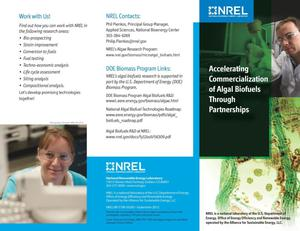 Primary view of object titled 'Accelerating Commercialization of Algal Biofuels Through Partnerships (Brochure)'.