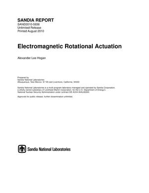 Primary view of object titled 'Electromagnetic rotational actuation.'.