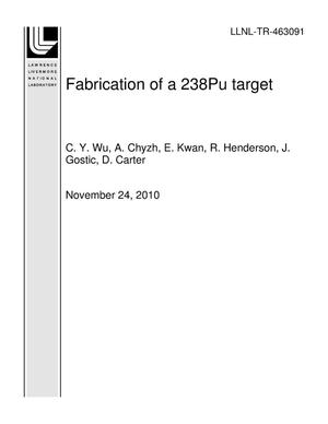 Primary view of object titled 'Fabrication of a 238Pu target'.