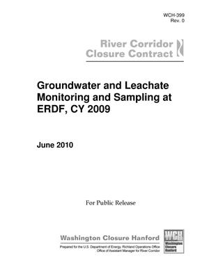 Primary view of object titled 'Groundwater and Leachate Monitoring and Sampling at ERDF, CY 2009'.