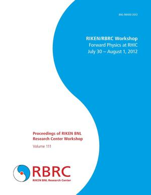 Primary view of object titled 'Proceedings of RIKEN BNL Research Center Workshop: Forward Physics at RHIC'.