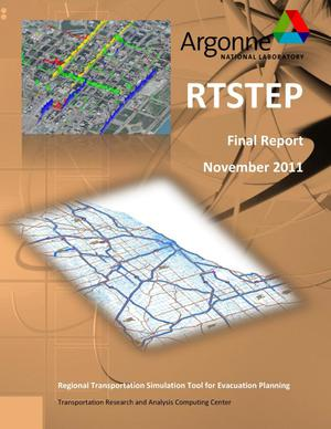 Primary view of object titled 'RTSTEP regional transportation simulation tool for emergency planning - final report.'.