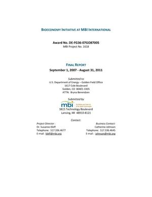 Primary view of object titled 'Bioeconomy Initiative at MBI International'.