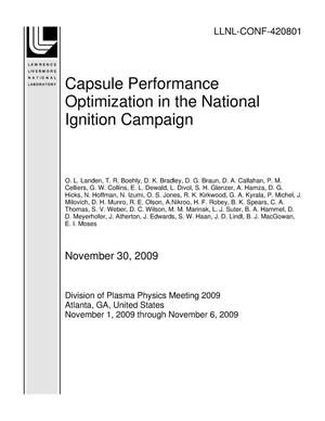 Primary view of object titled 'Capsule Performance Optimization in the National Ignition Campaign'.