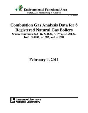 Primary view of object titled 'Combustion Gas Analysis Data for 8 Registered Natural Gas Boilers'.