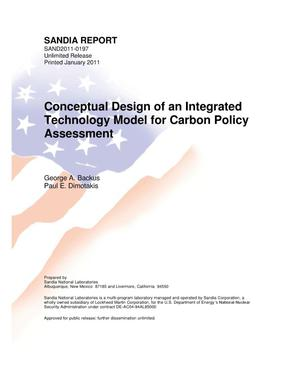 Primary view of object titled 'Conceptual design of an integrated technology model for carbon policy assessment.'.